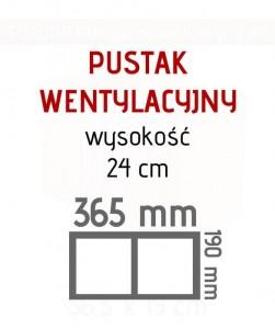 Ceramiczny pustak wentylacyjny podwójny Porotherm W2