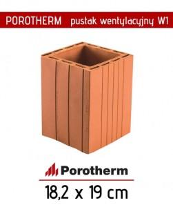 Tani pustak wentylacyjny pojedyncza wentylacja 14 x 14 cm Porotherm