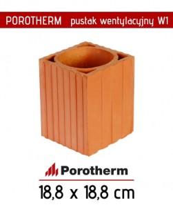 Wentylacja pustak W1 Porotherm fi 150