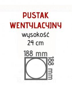 Pojedyncza wentylacja pustak W1 Porotherm fi 150 ceramika