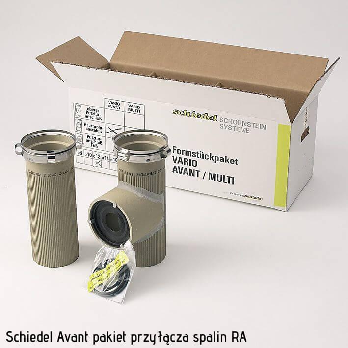pakiet przyłącza spalin RA do komina ceramicznego Avant 16
