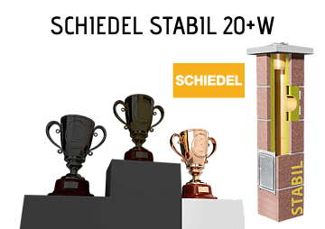 Najlepszy komin do kotła na pellet i ekogroszek Schiedel Stabil 20+W
