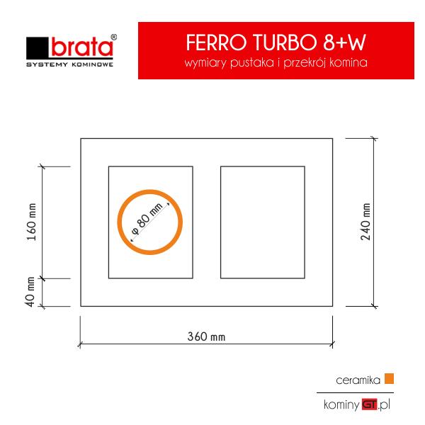 Brata Ferro Turbo 80 z wentylacją wymiary