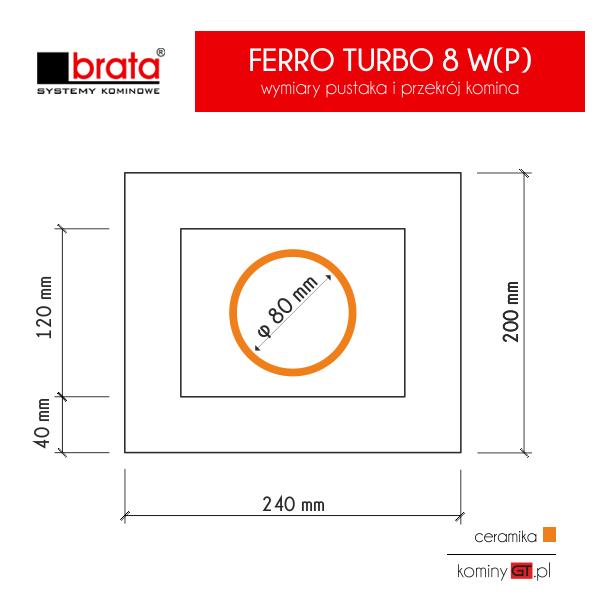 Brata Feroo Turbo 80 poziomy z wentylacją wymiary