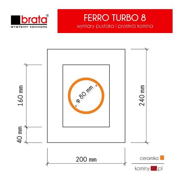 Brata Ferro Turbo 80 wymiary