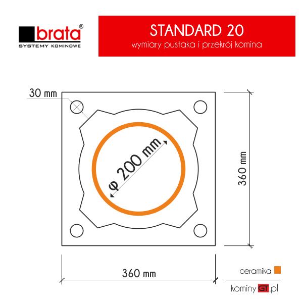 Brata Standard 200 wymiary