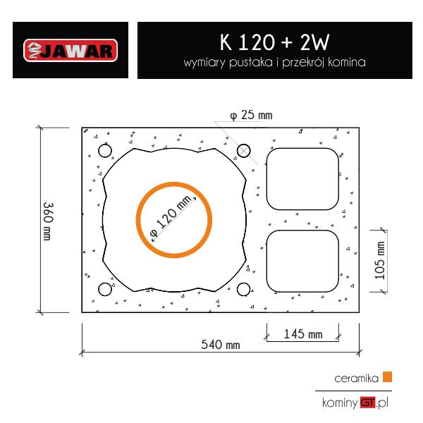 Jawar K 120 + podwójna wentylacja wymiary