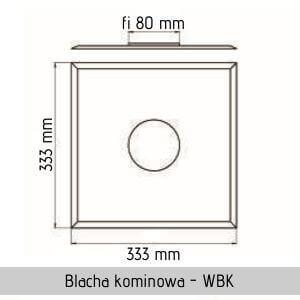 kwasoodporna blacha kominowa jawar fi 80 wbk