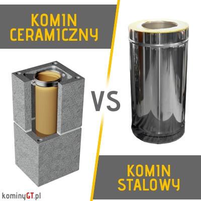 Komin do gazu ceramiczny vs stalowy