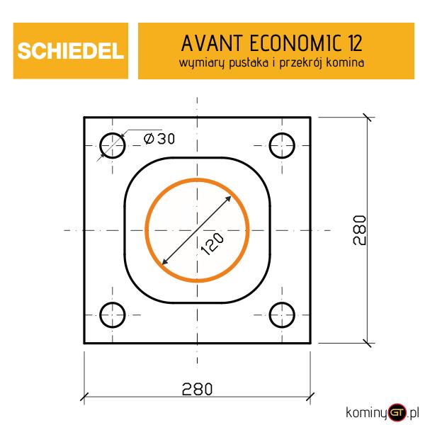 wymiary Avant Economic 12 Schiedel