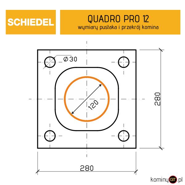 Wymiary Quadro Pro 12 Schiedel
