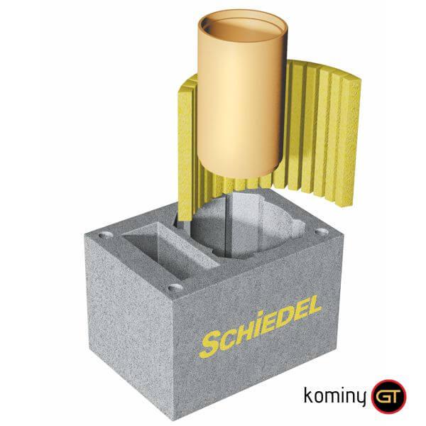 Najważniejsze elementy komina Schiedel Rondo Plus 20+W: pustak, izolacja, rura ceramiczna