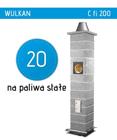 komin ceramiczny do kominków Wulkan C Schiedel fi 200